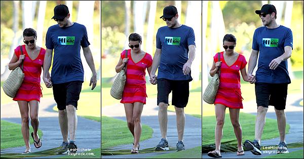.  05/01/2013 : Lea et Cory ont été vus encore profitant de leurs vacances à Hawaï.  Plus tard, le couple a été vus arrivant a l'aéroport de Lax ! Les vacances sont terminées pour les tourtereaux ... Ce sont deux  TOPS.[/font=Arial]    .