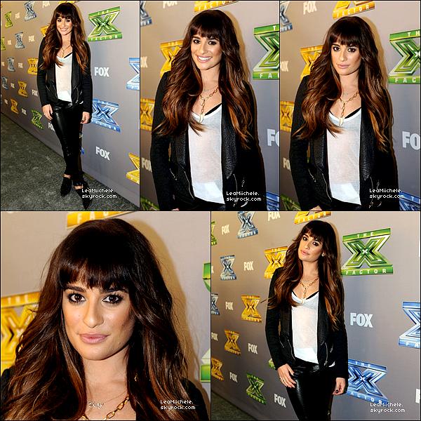 """.  19/12/2013 : Lea était invitée pour la finale de l'émission  X Factor USA.  Elle a interprétée son titre """"Cannonball"""". J'aime tellement sa tenue !!! tout est parfait ! Grande classe ! C'est un  TOP.[/font=Arial]    ."""