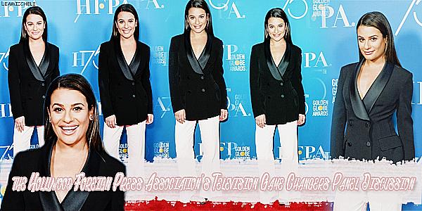 .  26/10/2017 : Lea était présente a l'événement :  « Hollywood Foreign Press Assocation Panel Discussion ».   J'aime bien sa tenue, Lea est toute belle, très classe je trouve. C'est    un TOP.[/font=Arial]    .