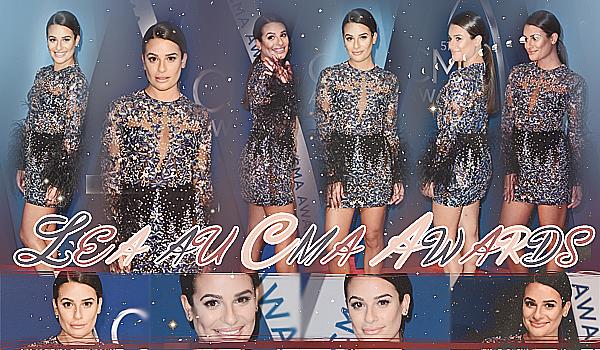 """.  08/11/2017  ► Lea était présente a la cérémonie des  """"CMA Awards """" à Nashville  (Tennessee) .   Je trouve Lea parfaite !! j'aime sa tenue, son make up est très jolie.C'est vraiment  un   très beau TOP.[/font=Arial]    ."""