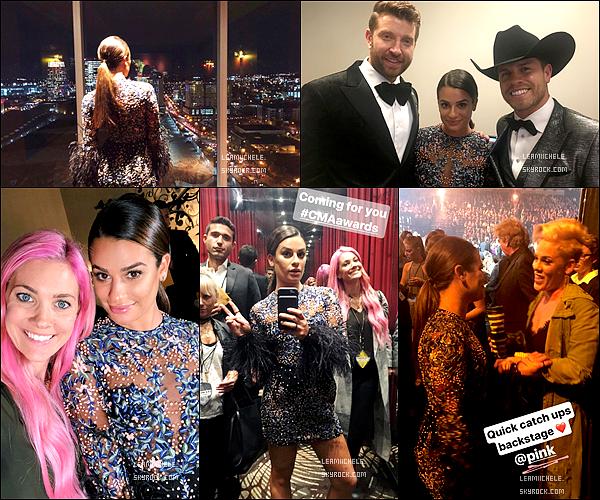 """.  08/11/2017 : Lea était présente a la cérémonie des  """"CMA Awards """" à Nashville  (Tennessee) .   Je trouve Lea parfaite !! j'aime sa tenue, son make up est très jolie.C'est vraiment  un   très beau TOP.[/font=Arial]    ."""
