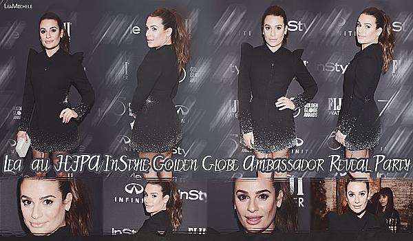""".  15/11/2017   ►Lea s'est rendue à l'événement :   """"HFPA/InStyle Golden Globe Ambassador Reveal Party"""".   Lea est très classe, j'aime sa robe ! :)  c'est un très beau TOP.[/font=Arial]    ."""