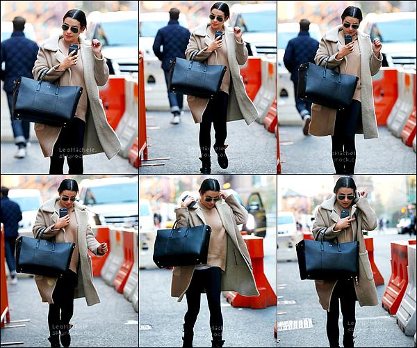 .  20/11/2017  ► Lea a été vue   se promenant dans les rues de New York City.   Tenue simple mais j'aime beaucoup !!! j'aime tout! Tenue vraiment cool je trouve.  C'est un  TOP.[/font=Arial]    .