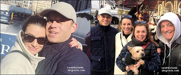 .  22/11/2017 ► Lea a été vue   dans New York City.   Lea était accompagné de son petit ami Zandy. Meme tenue que la veille, donc rien a dire.  C'est un  TOP.[/font=Arial]    .