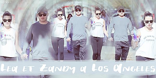 .  11/12/2017  ► Lea a été vue  en compagnie de Zandy dans les rues de Los Angeles.    Lea est habillée très simple, décontracté, j'aime assez sa tenue. C'est un petit TOP.[/font=Arial]    .