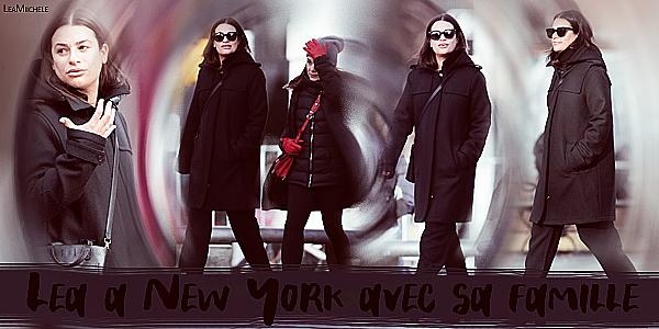 .  13/02/2018  ► Lea  a été vue avec sa famille dans les rues de New York City.     J'aime le manteau de Lea, par contre, je n'aime pas son pantalon!  BOF!.[/font=Arial]    .