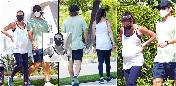 •••  CANDIDS   Lea et son époux Zandy, été de sortie pour leur balade quotidienne dans LA, le 23 juillet 2020            De nouvelles balades en couple ou en famille dans Los Angeles. Pas d'avis pour la tenue mais le ventre de la miss est vraiment gros ^^