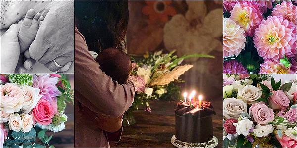 •••  INSTA La belle a posté diverses photos sur ses réseaux sociaux entre le 27 et le 29 août 2020             La première correspond aux 7 jours d'Ever Leo, les autres à l'anniv' de Lea qui a eu 34 ans. J'adore celle entre mère et fils !