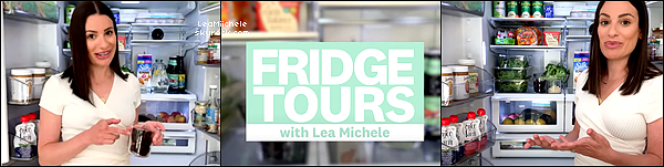 ⇢ ♬ ♪ ♫ _ APPEARANCES _ ● Lea partage son amour pour la sauce Buffalo et le vin, le 01/07/21 ♫  ⇣    ▲ Jetez un ½il à l'intérieur du frigo de Lea! Elle aime garder son réfrigérateur rempli d'articles sains pour toute la famille.   TOP▲[/font=Tahoma]   .