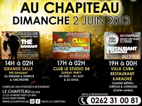 DIMANCHE 02 JUIN 2013 - AU CHAPITEAU