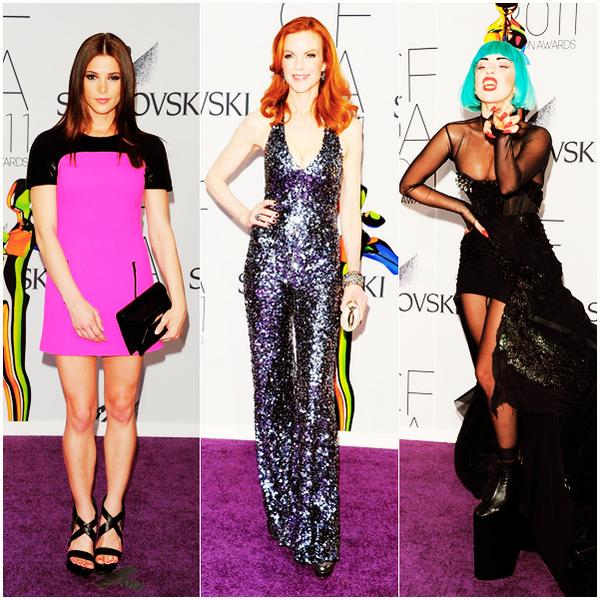 """_  _______________Qui? People_______________Quand?06/06/11________Catégorie?Event  _____  _____» Bon je sais que ça fait un peu répétition comme article mais c'est pas ma faute si les soirées se passe en même temps moi xD. Cette fois-ci c'est la soirée des CFDA Fashion Awards 2011. Comme toujours je vais vous aidez a décripter les noms vraiment chiant des soirées qui, pour nous, se ressemble toutes x). Donc hier c'était les Mtv Movies Awards, bon bah là je pense que c'est assez clair heein, aujourd'hui les CFDA Fashion Awards 2011 c'est une cérémonie ou tout le gratin de la mode est récompensé ^^. CFDA = Council of Fashion Designers of America. ....c'était la minute intelligente :D (tadadadaaaaa) ça c'était le petit générique hihi :D BREFFF! y'avait plein de monde comme d'hab' mais la plus remarquée c'était -pour changer- la Gaga : déjà rien qu'a voir sa tenue, on sentait y'avait un truc de louuuche là dessous nan? et bah vous avez raison car """" la chanteuse a également créé le scandale en dévoilant ses seins nus sous le tulle de cette robe bustier. Et comme pour achever l'Amérique puritaine choquée, Lady Gaga a finalement retiré sa traîne laissant apparaître son postérieur """"habillé"""" d'un string clouté. """" Si ça c'est pas la grande classe *-*. Evidemment j'ai cherché des vidéos attah x) Voila ce que j'ai trouvé..si y'a mieux j'vous dis (a).     .  _"""