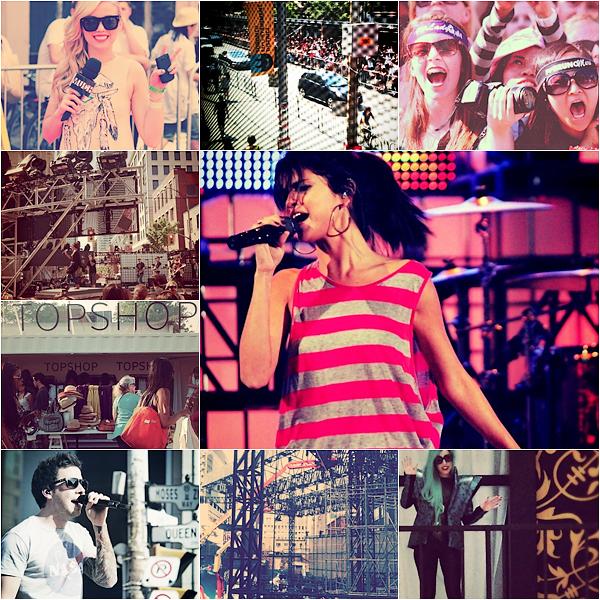 """_  _______________Qui? Peoples _______________Quand?19/06/11________Catégorie?Event  _____  _____» Et enfin la soirée des MuchMusic Vidéos Awards 2011 muahha! Tant attendu par moi, qui voulait voir plein de belle stars et tout..ouais bah non, y avait pas grand monde xDD. Franchement j'ai cherché pendant 1 heures x). Niveau du red carpet alors : Je trouve la coiffure de Selena horrible xD Sa gache tout x) Pareil pour Katerina Graham.. même si je l'adoooore bah là non.  Avril bah c'était Avril , Bieber c'était Bieber, Ian c'était Ian ( = beaaaaau ♥.♥). Les deux Tops de la soirée pour moi c'était Nina et Shay :DDD Bah c'est Nina et Shay aussi heeein, elles sont toujours magnifque mais là franchement *___*. Merci d'etre là pour remonter le niveau quoi -_-. Les MMVAs c'ets aussi des Show héhé! ( show = vidéos (a)). Donc le show de Selena pour """"Who Says"""" c'est par là, LA perfo de la soirée c'est """"The Edge of Glory"""" De Gaga *-* mais elle a aussi fait """"Born this Way"""" et regarder cette vidéo au début on voit Sel' et Nian et Shay qui présente, je kiff ♥ et voici l'arrivée de Justin Bieber ! Si vous aimez pas Justin vous pouvez quand même regarder, c'est super marrant de voir les filles pleurer """"JUUUSTIN"""" xDD. Et bien suur les gagants de la soirée héhéé! Donc y'a 50% des trucs qu'on connait pas en France, le reste c'est Gaga qui a gagné la Vidéo Internationale de l'année avec Judas,et la vidéo favorite internationale des gens qui vote sur Internet, oh! et puis merde vous vous débrouiller avec la traduction, j'pense pas que ce soit compliquée mddr! (Oui je suis fatiguée, j'vais juste pêtée un cable vu que ça fait 2 heures que je fais juste mon article xD) Donc : International Video of the Year - Group: Far East Movement f. The Cataracs & Dev """"Like A G6"""", International Video of the Year By a Canadian: Drake """"Find Your Love"""" et aussi UR Fave Arist Justin Bieber f. Usher. Voiloo pour cette soirée du 19 Juin :DD   .  _"""