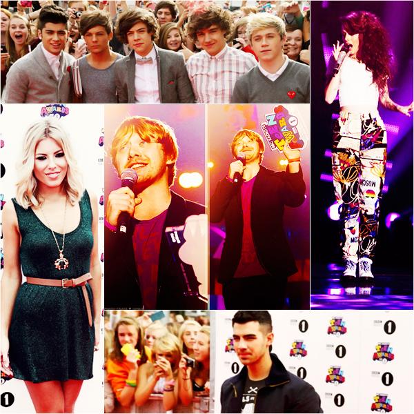 _  _______________Qui? People_______________Quand?09/10/11________Catégorie?Event  _____  _____» Ce 9 octobre a lieu l'évènement BBC Radio 1 Teen Awards 2011. Alors petit point de Culture Général ahah : a chaque fois j'essaie de décripter ses noms d'Event complètement inutile, suuper long et qui se ressemble a peu près tous. Alors c'est quoi la différence entre les Teen Awards et les Teens Choices Awards, me direz-vous? et bien c'est la même chose sauf que les Teens Choices Awards sont deux fois plus connue parce que ça se passe au Etats-Unis alors les Teens Awards c'est en Angleterre. :) Voila pour l'info héhé! Moi j'ai pu regarder l'émission en Direct sur Internet, même si j'ai loupée le début j'peux vous dire que c'était trop bien, rien a voir avec les émission française haha! La moitié des personnes présentent , surtout les filles/groupies, étaient là pour voir les One Direction xD. Alors dès qu'ils les montraient a l'écran y'avais des vieuuuux cris a vous défoncer les tympans :p. Pas mal de stars on chanté en live cmme Cher Lloyd, Joe Jonas, Pixie Lott (5 chansons..non mais 5 chansons quoi :O c'était looong xD même si je l'aime bien hein.. :p) Ed Sheeran et les 1D biensuuur haha! Niveau prix je me souviens plus de tout mais Rupert Grint a gagné celui du meilleur acteur, The Wanted ont gagné un truc aussi, Ed Sheeran aussi.. J'ai pas trouvé beaucoup photos sur internet de tapis rouge et tout, c'est pas très médiatisé on dirait :p    .  _