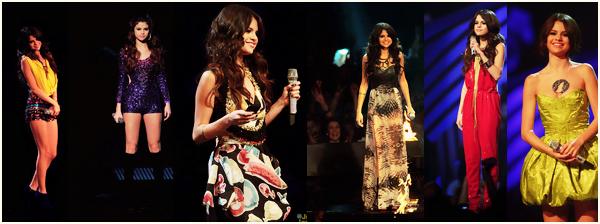 _  _______________Qui? Peoples_______________Quand?06/11/11________Catégorie?Event  _____  _____» Dimanche 6 novembre 2011 a eu lieu à Belfast, la cérémonie des MTV Europe Music Awards Cette édition 2011, présentée cette fois par Selena Gomez (qui succède ainsi à Eva Longoria) elle a été diffusée dans le monde entier, en direct de l'Odyssey Arena de Belfast, en Irlande de Nord. De grands artistes à l'envergure internationale ont été honorés lors de ce grand évènement, j'ai nommé :  Bruno Mars Coldplay Jessie J Lady Gaga LMFAO Red Hot Chili Peppers Jason Derulo Queen Snow Patrol Katy Perry Justin Bieber et David Guetta... J'ai pas regarder le show en entier j'avoue, j'ai arrêté juste après la performance de Selena Gomez, qui était l'hôtesse de la soirée mais qui a aussi chanté Hit the Lights (a). Coté live j'ai vu le show de LMFAO sur Party Rock..une horreur, enfin ils savent pas chanté ces mecs j'vous jure u_u , celui de Bruno Mars sur Marry you qui était trooop bien, Price Tag de Jessie J aussi.. et bien sur Lady Gaga qui a chanté Marry the night et évidemment elle était OBLIGER de montrer son cul, comme d'hab quoi xD. Après niveau prix, les grands gagnants de la soirée ont été Gaga ( surprise :O) et Justin Bieber..en faite rien de super surprenant quoi x). Alors en vite fait je passe au tapis rose (héhé), mon coup de coeur c'est Hayden, elle était vraiment troooop jolie♥. Selena j'aime bien aussi mais ça fait un peu oiseau sur les bords.. et sinon j'avoue que Bieber était pas trop mal habillée :D. Voila franchement dans l'ensemble c'était une cérémonie réussie et j'ai trop kiffé la regarder en direct ça GERAAAAIS. ♥  .  _