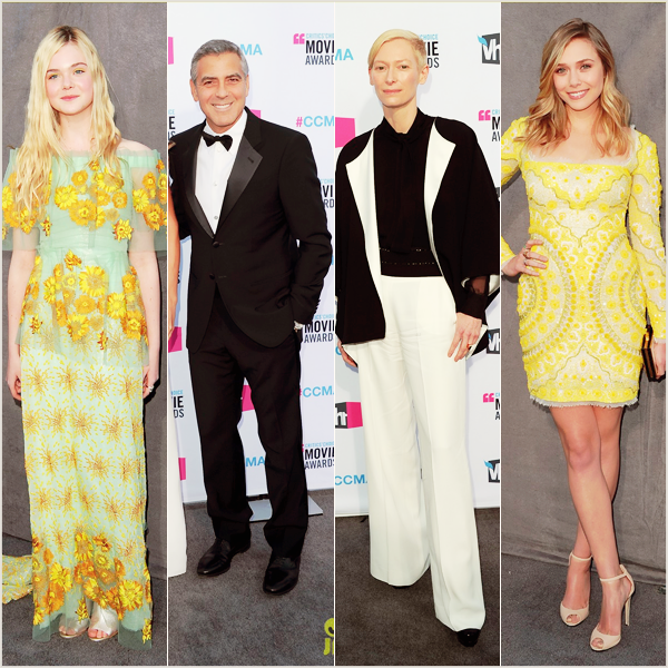 """_  _______________Qui? Peoples_______________Quand?12/01/12________Catégorie?Event  _____  _____» Le lendemain des PCA a eu lieu une autre soirée important dans l'histoire du cinéma (j'exagère a peine :p), les Critic's Choice Awards 2012 ! Pas mal de star là aussi, on retrouve nos deux beautés Chloé Moretz & Emma Stone *-*. Remarquez aussi la tenue d'Elle Fanning, qui a l'air d'aller a la plage xD et notre frenchi chérie Jean Dujardin :D. En effet son film muet The Artist a été un des films far de la soirée : il a gagné 11 prix aux totals *___* vous vous rendez compte ?! c'est oufffissime. ♥ #proud to be French ! Le deuxième film gagnant de l'évènement a été le nouveau film de Martin Scorsese """"Hugo"""" qui lui aussi a gagné 11 prix :)   .  _"""