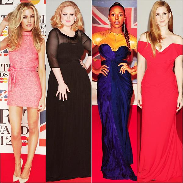 _  _______________Qui? Peoples_______________Quand?21/02/12________Catégorie?Event _____  _____» J'ai loupé plein d'évènement important alors je ne pouvais pas ne pas faire d'articles sur la célèbre soirée qui a eu lieu hier soir : les British Awards. C'est la même chose que les autres sauf que c'est en Angleterre donc ils parlent tous comme dans Misfist muahha. Sans plus tarder je vous dis direct & sans surprise d'Adele a remporter des prix, le meilleur album et l'artiste féminine, et l'homme de la soirée c'était mon bébé Ed Sheeran que j'aaaime avec artiste masculin et révélation de l'année #soproud. Mon autre bébé (oui j'ai une très grande famille :3) Lana Del Ray a remporté la révélation international de l'année :DD Si c'est pas trop trop génial ! et même que Riri a gagné l'artiste international de l'année..non mais sérieux c'est pas une soirée génioul ça ? :D Franchement avec les NMA j'pense qu'on peut aller s'enterrer hein.. u_u. Awui j'allais oubliée (mh mh) que la moitié des personnes qui ont regardé cettte émission l'ont surement regardé car les One Directions y venait.. et ils sont pas venu pour rien car ils ont pu se bourrer la gueule (sauf Liam ♥) et repartir avec  l'awards du meilleur single pour  WMYB :D. Oui parce qu'en fait au Brits les invités sont autour d'une table ronde avec au moins 2o bouteilles vide par table se qui fait que quand il gagne un prix on voit tous leur bordel muhaha. Sinon niveau tapis rouge alors Rihanna j'aime bien, Adele on dirait qu'elle porte a chaque fois la même chose, Kylie ça lui va super bien *-* et Cher..j'porterais pas ça haha mais ça va :)  .  _