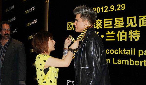 Pic d'ADAM LAMBERT  à la soirée privée en Chine
