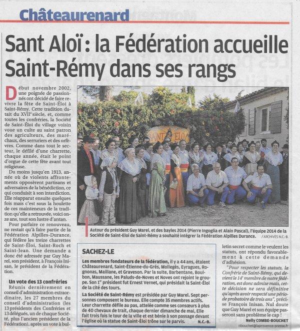 Journal La Provence du jeudi 11 décembre 2014