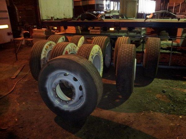 Scania 164: apprêt châssis