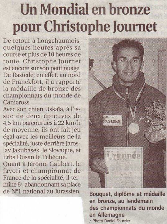 Article de journal : Christophe Journet aux championnats du monde