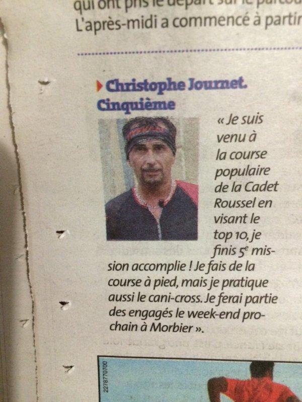 Article de journal : Christophe Journet aux championnats du monde