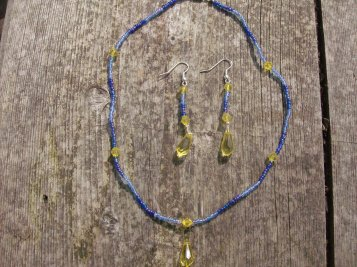 Collier + boucle d'oreille (collier petite goutte)