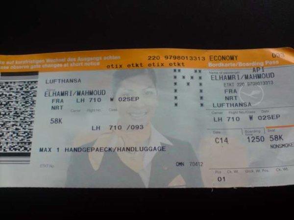 mon billet d avion casablanca frunkfort germany