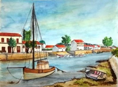 aquarelle, le bateau!!