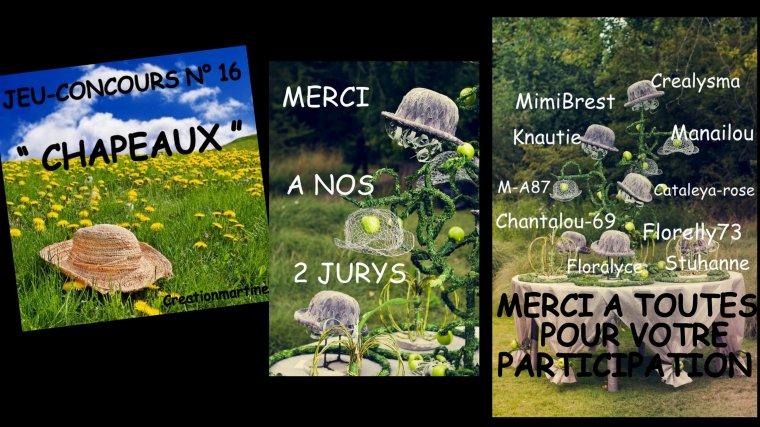 """VIDEO JEU-CONCOURS N° 16 """" CHAPEAUX """""""