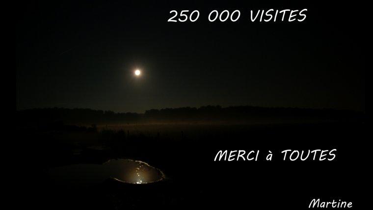 250 000 VISITES