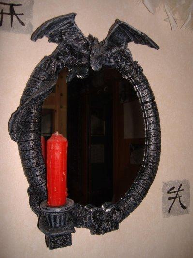 Miroir dragon avec une bougie rouge fondu blog de krys for Miroir virtuel krys