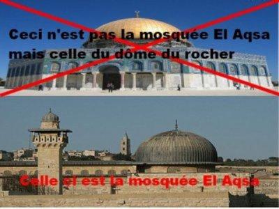 "Confusion entre "" Masjid Al-Aqsa "" et "" Dôme du Rocher """