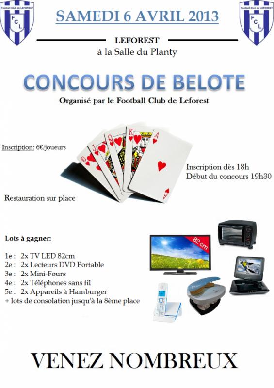 Concours de Belote du FC LEFOREST