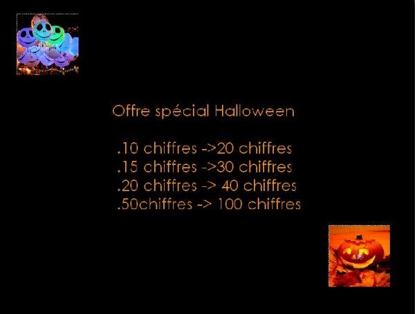 ♥○○○ Offre de chiffres spécial Halloween ○○○♥