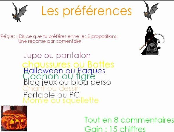 Les préférences of ShuutxGaames :DD