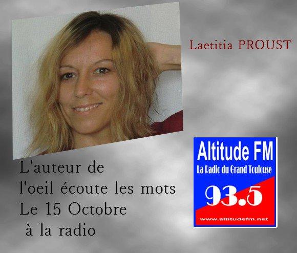 radio altitude de blagnac Laetitia Proust auteur écrivain