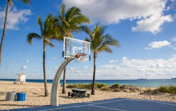 Fort Lauderdale Beach Basketball Courts Miami Fan De