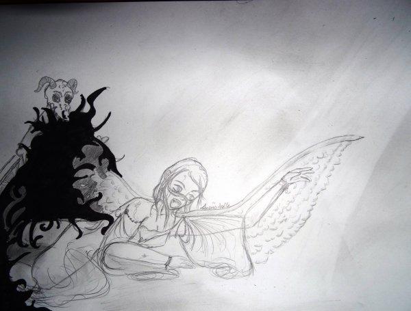 Nouvelle participation à un concours dessin: ténêbres et lumière