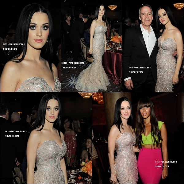 . 12 /02/11 [/g:]Katy était à la pré-cérémonie des « Grammy Awards 2011 » à Beverly Hills . Elle était magnifique, c'est un TOP ! Et vous qu'en pensez-vous ? .