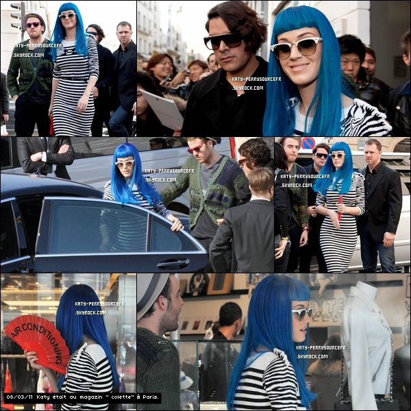 . 08/03/11 [/g:]Katy était à la fashion week de Paris . + Le California Dreams Tour continue , à Paris le 7 & 8 Mars 2011.  .