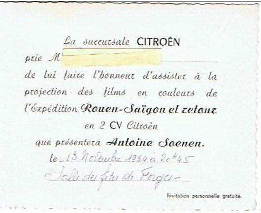 INVITATION DOCUMENT ANCIEN