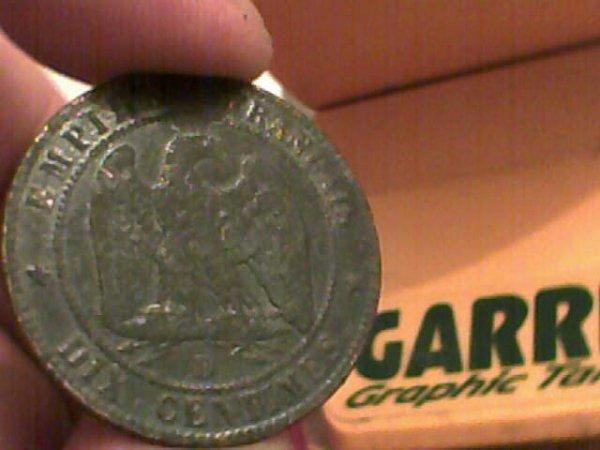 dix centime napoléon 1855 b