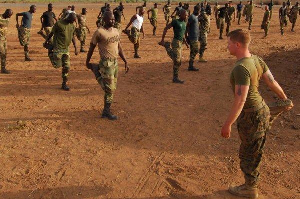 les guériers  jambar comando du senegal avec les americain