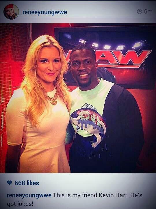 Kevin Hart est prêt pour RAW !