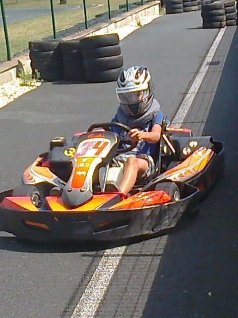 mon fils au karting