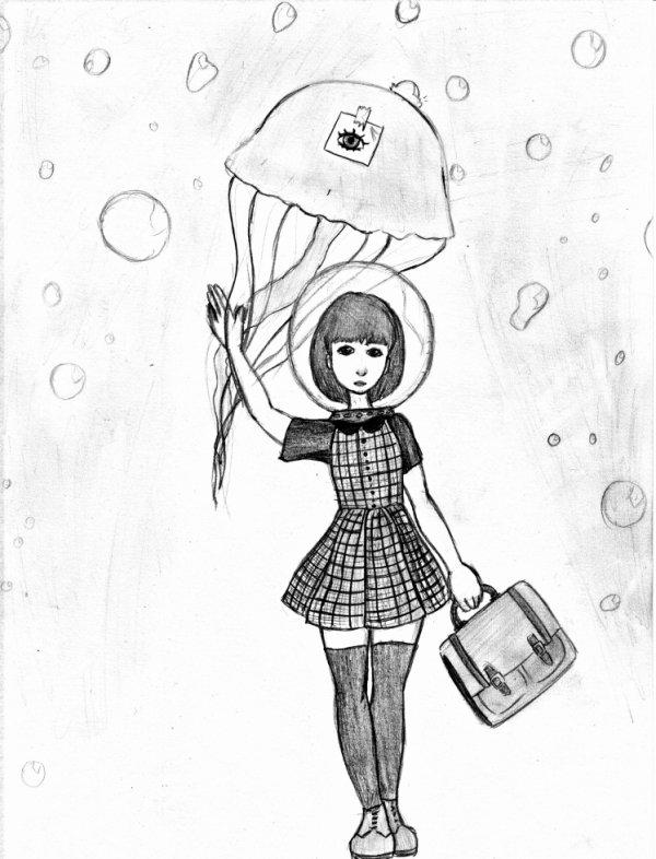 - Bubble rain under the sea