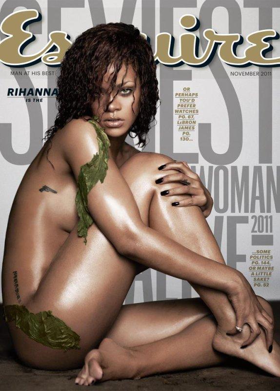 Rihanna en couverture du magazine Esquire novembre 2011