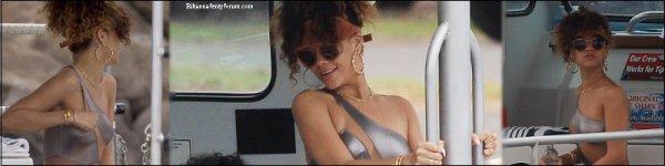 Rihanna sur un bateau à Hawaï 17/01/12