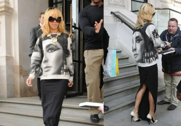 Rihanna quitte son hôtel à Londres le 26.02.12
