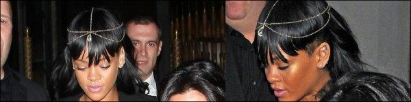 Rihanna quitte son hôtel à Londres 19/05/12